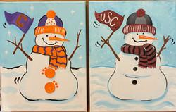 Fan Snowmen Canvas