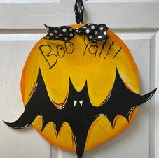 Bat with Moon Wood Cutout