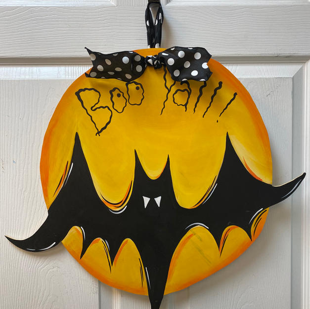 Bat with Moon Wood Cutout