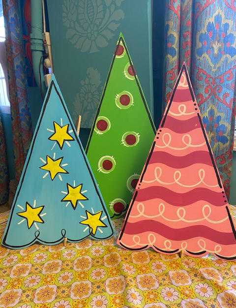 #63,64 Set of 3 Christmas Trees