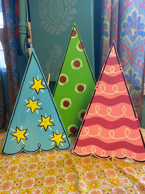 December 15, Tuesday, 6:30-8:30pm Set of 3 Christmas Trees