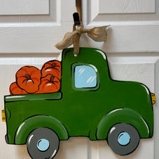 Truck with Pumpkins Wood Cutout