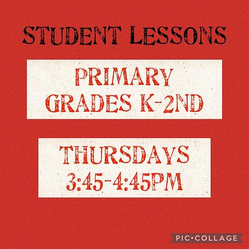 Primary Grades K-2 Small Group Art Lessons, Thursdays
