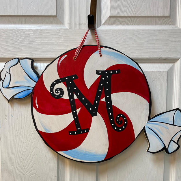#73 Peppermint Candy Wood Cutout