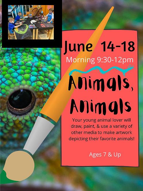 June 14-18 Animals, Animals Morning 9:30-12pm
