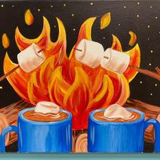 Marshmallow Campfire Canvas