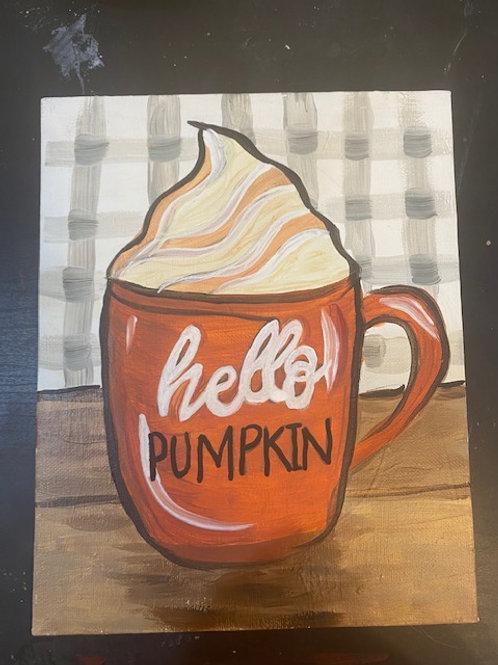 Saturday, November 6, 10:30am, Hello Pumpkin Canvas
