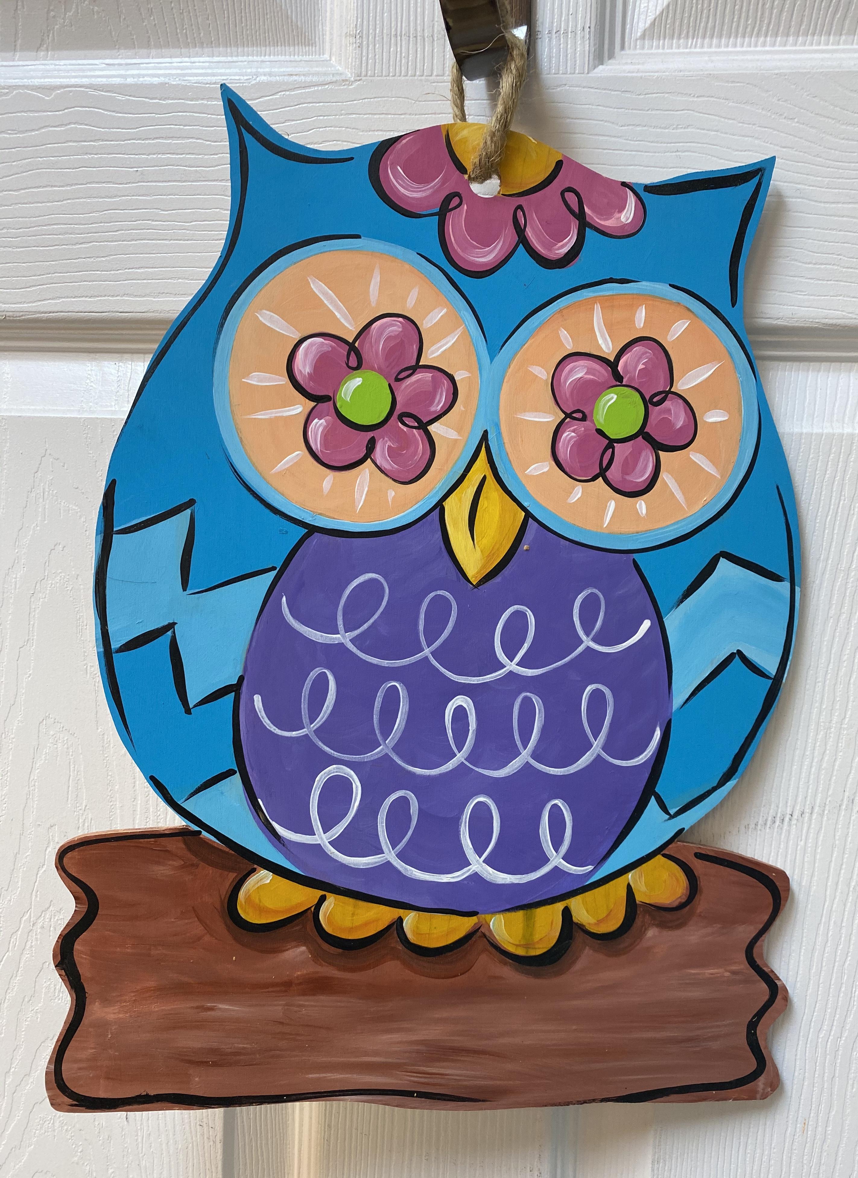 Flower Owl Board