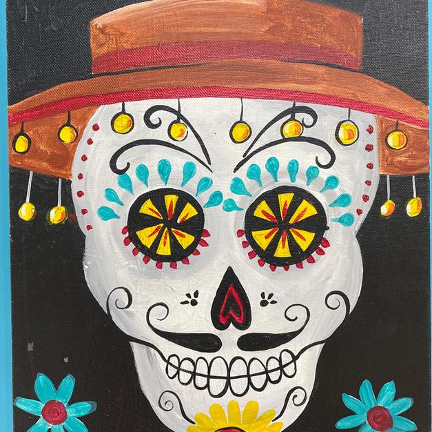 Dia de los Muertos Amigo Canvas