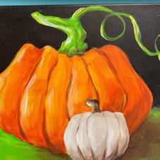 Realistic Pumpkins (Orange & White) Canvas
