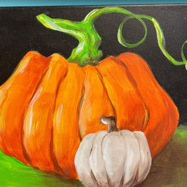 Realistic Pumpkins (Orange & White) Canvas