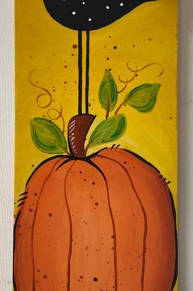 Saturday, October 30, Bird on Pumpkin, 12-2pm