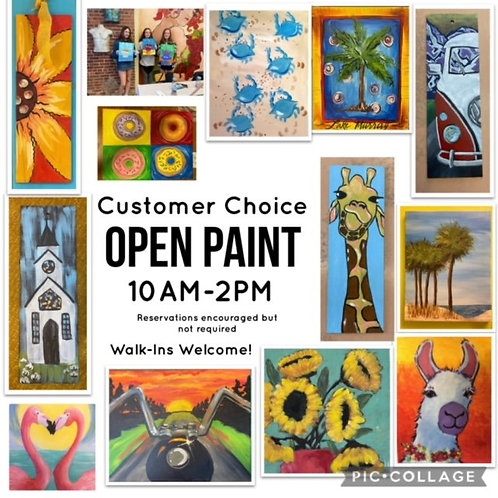 Saturday, September 25, Open Paint 10am-2-pm