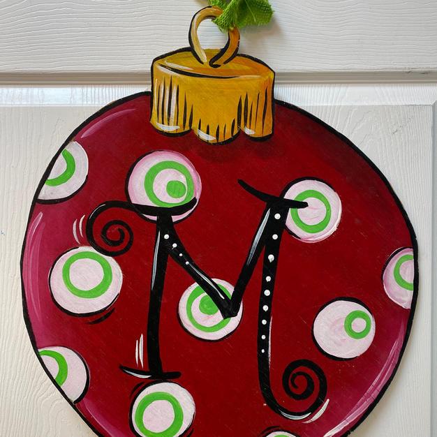 #54 Round Christmas Ornament Wood Cutout