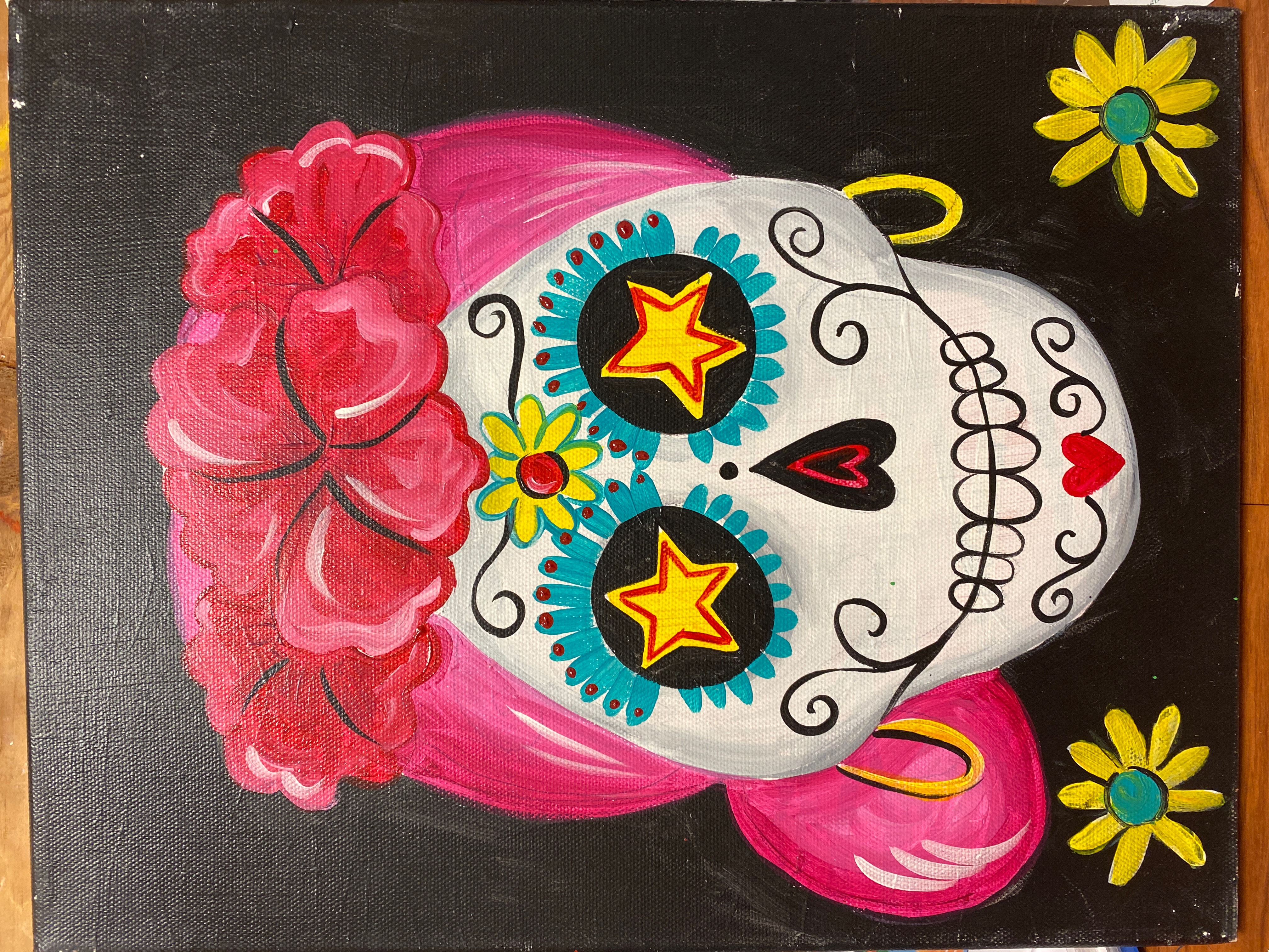 Dia De Muertos Canvas