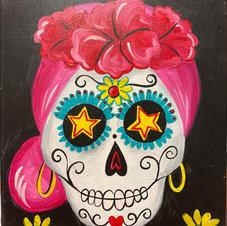 Dia de Los Muertos Amiga Canvas