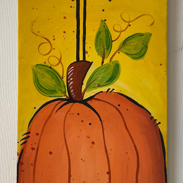 Bird & Pumpkin Skinny Board
