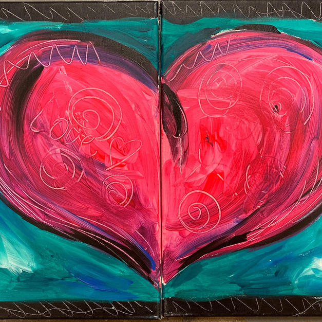 Date Night Heart Canvases