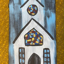 Rustic Church Skinny Board