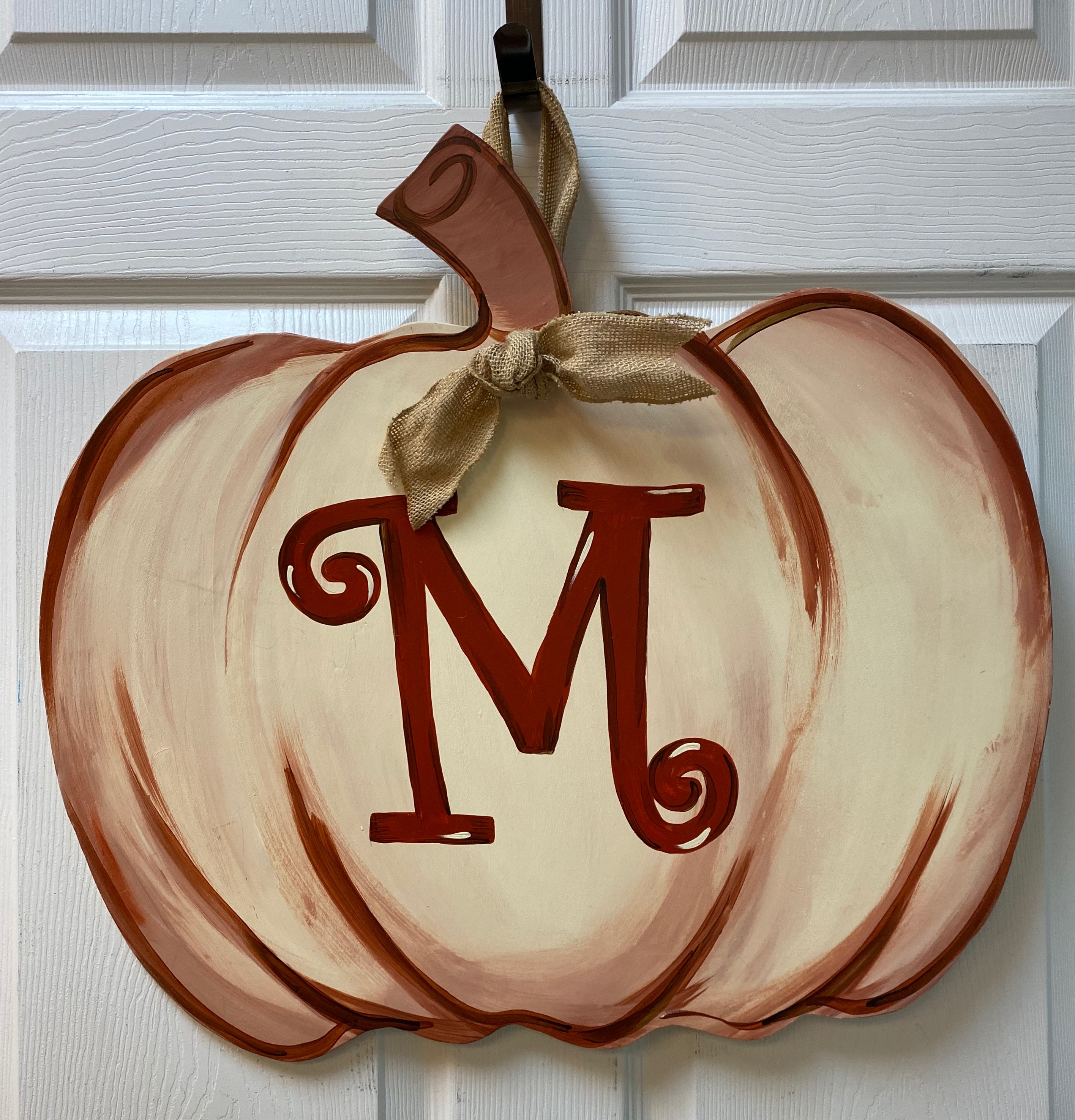 Monogram Pumpkin Board