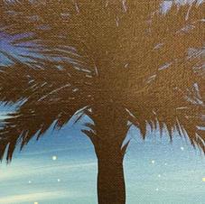 Palmetto Tree Silhouette Skinny Board