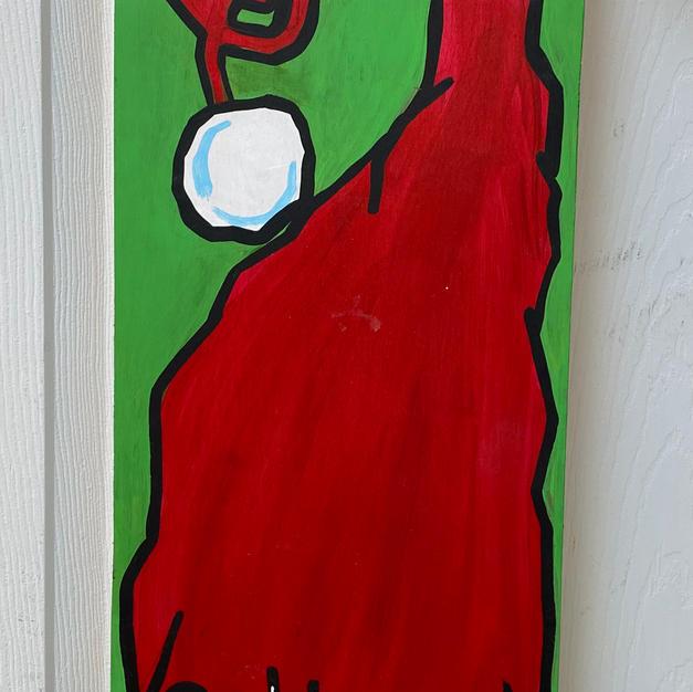 Santa Hat Skinny Board