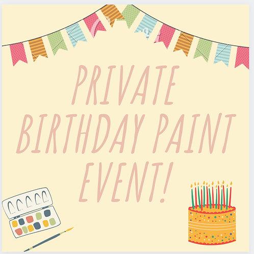 Saturday, February 12 Private Birthday Event with P. Davis 10am-12pm