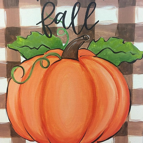 Friday, October15, Happy Fall Canvas Choice, 6:30-8:30pm