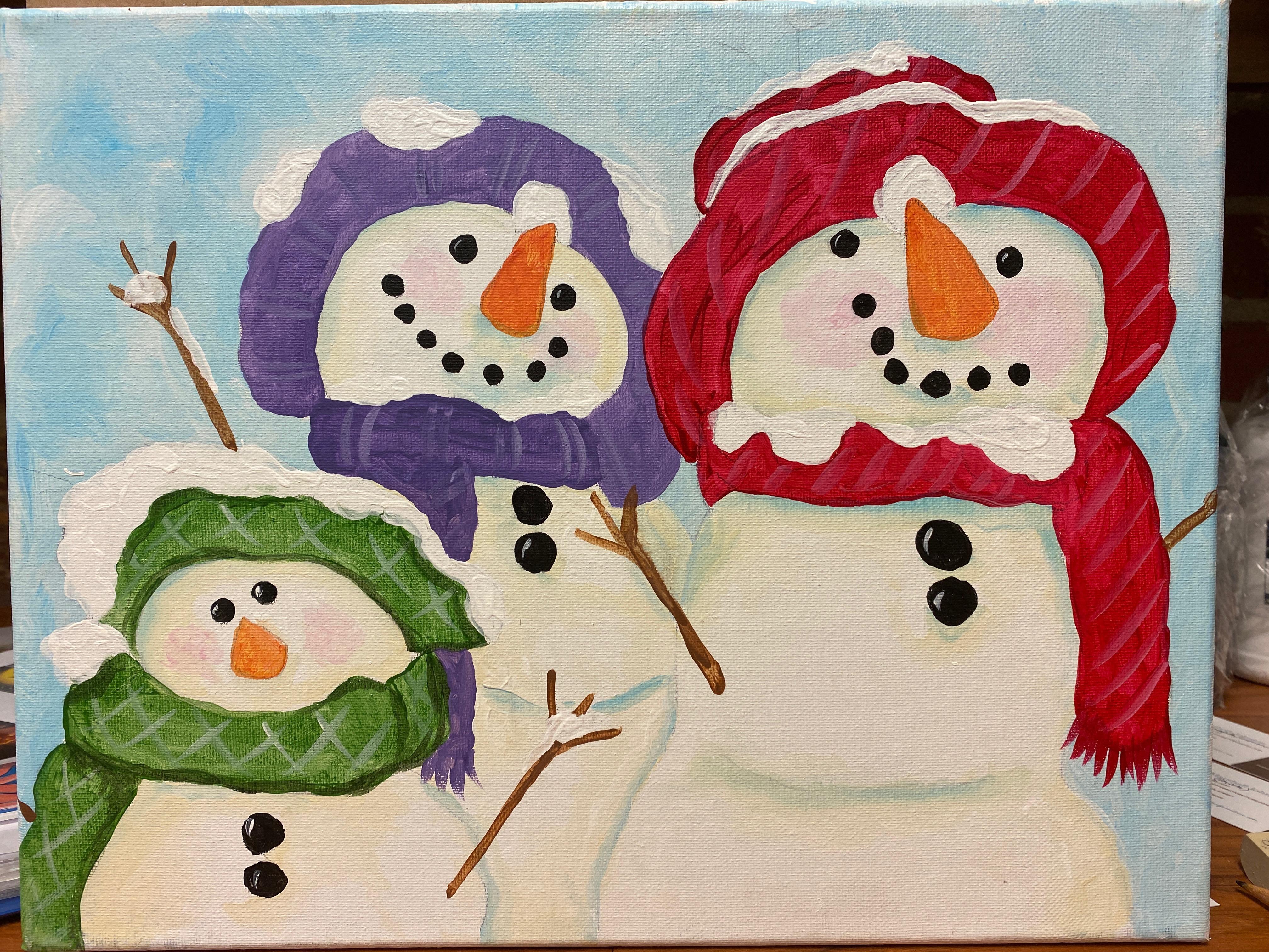 Snowman Family Canvas