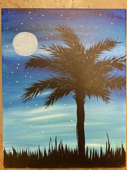 Palmetto Moonlight Canvas