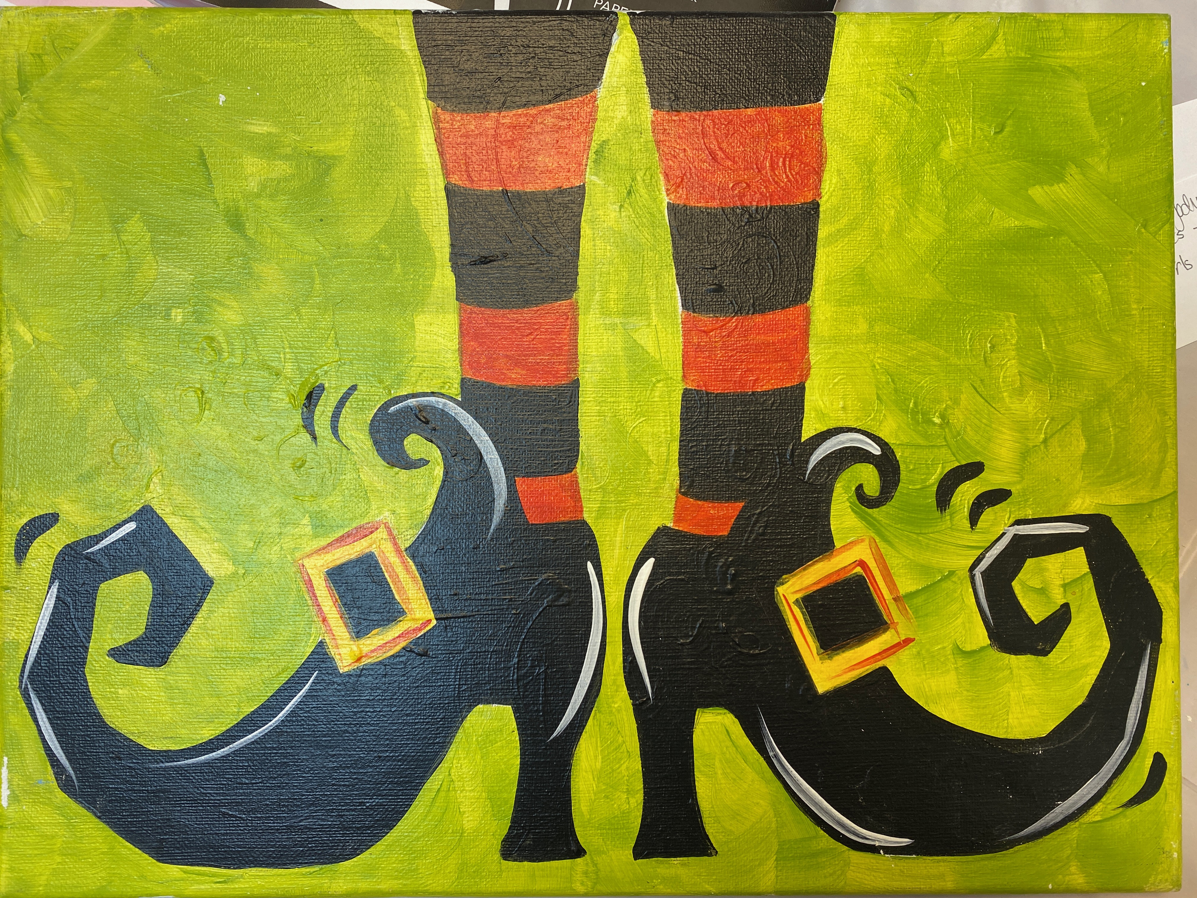 Witch Shoes Canvas