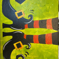 Witchy Feet Canvas