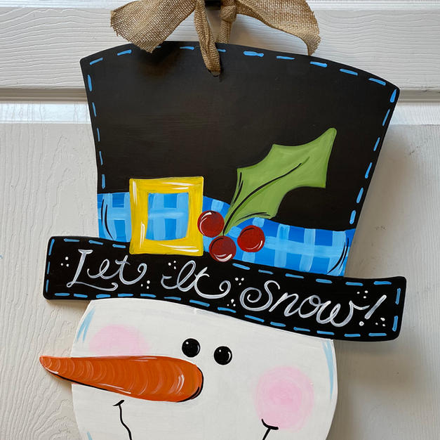 #72 Snowman Head Wood Cutout