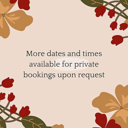More Times Available Upon Request