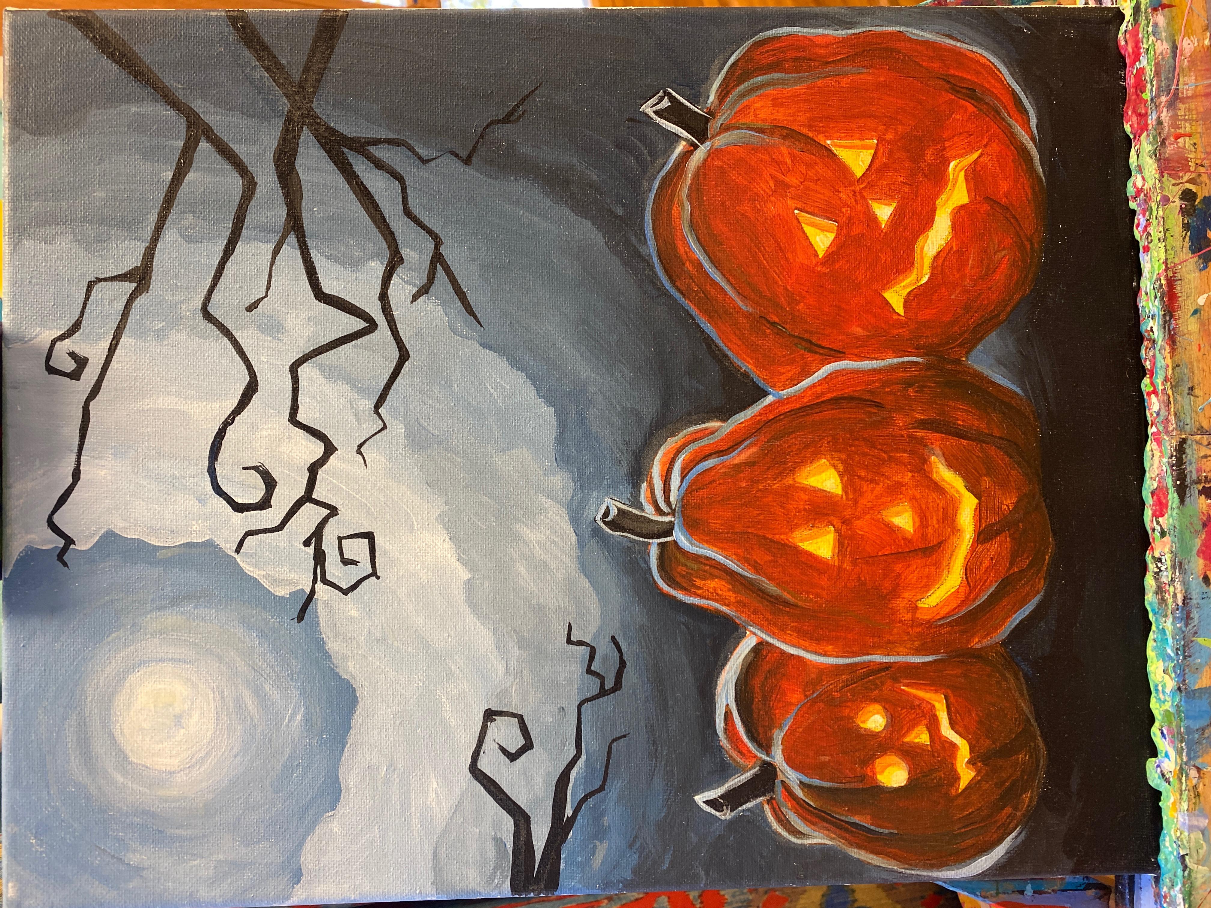 Jack-o-lantern Patch Canvas