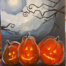 Glow Pumpkins Canvas