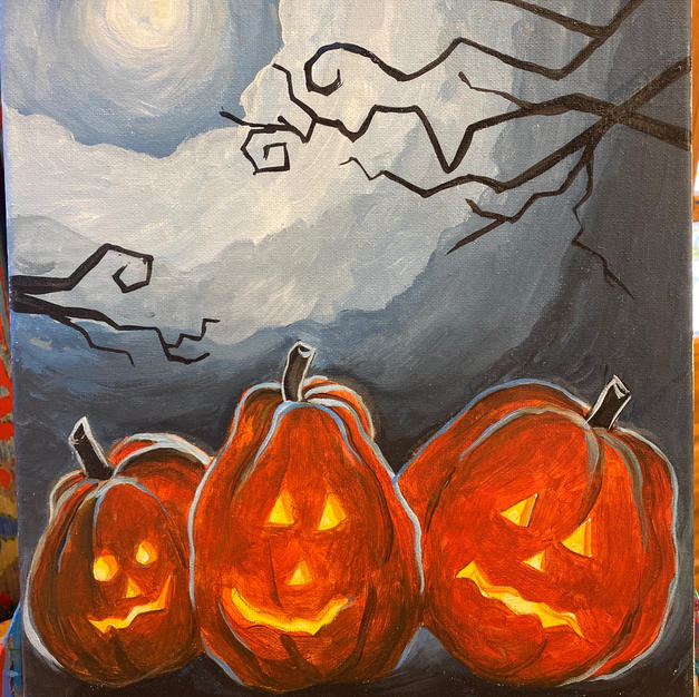 Glow Pumpkins Canvas
