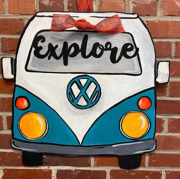 VW Bus Wood Cutout