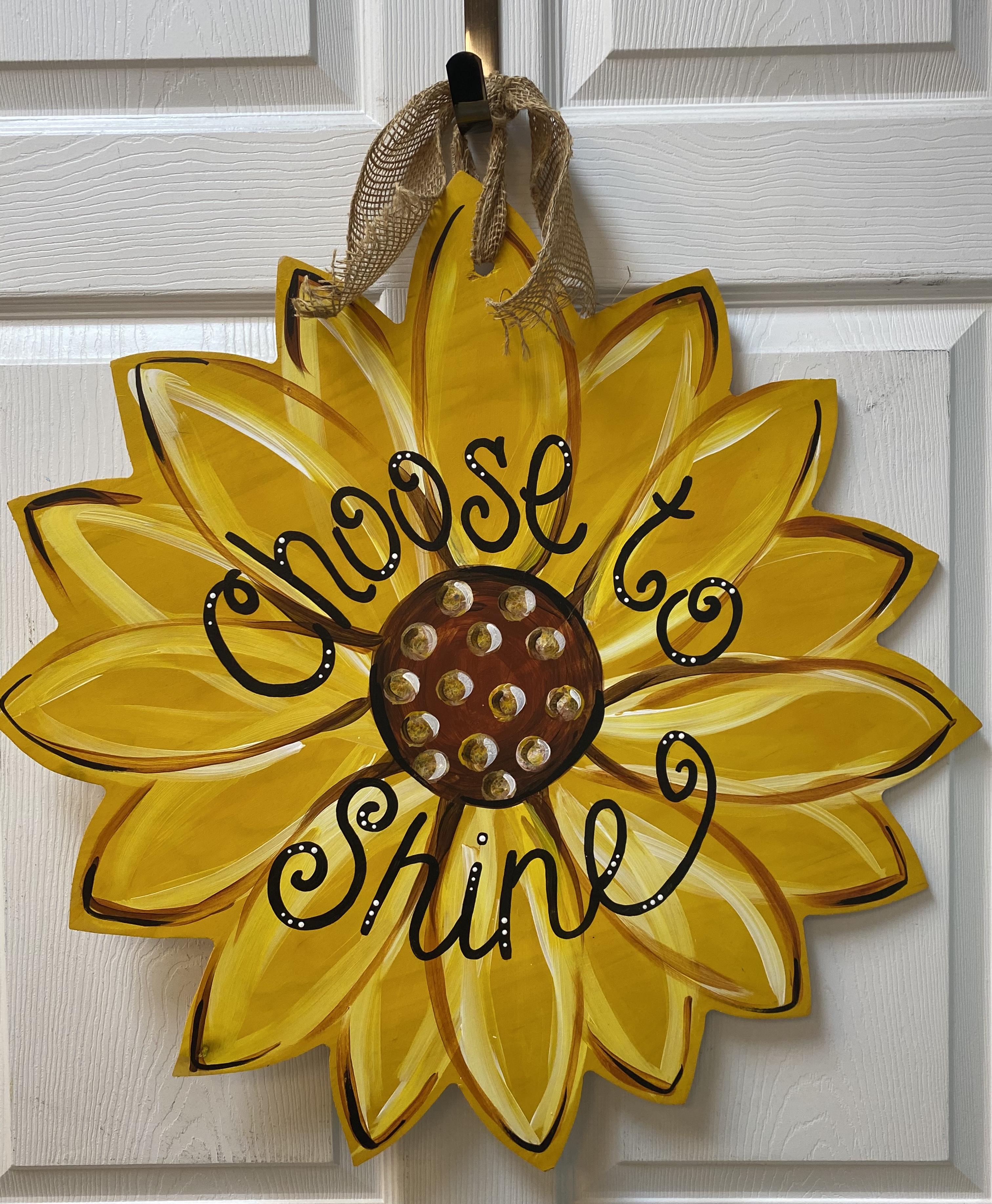 Sunflower Face Board