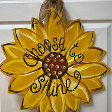 Sunflower Wood Cutout