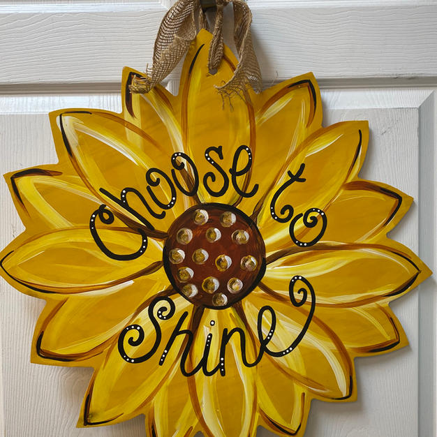 Sunflower Wood Cutout
