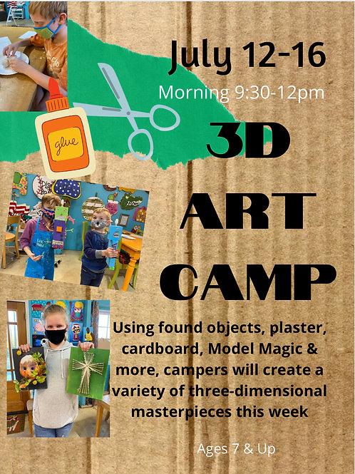 July 12-16, 3D Art Camp, Morning 9:30-12pm