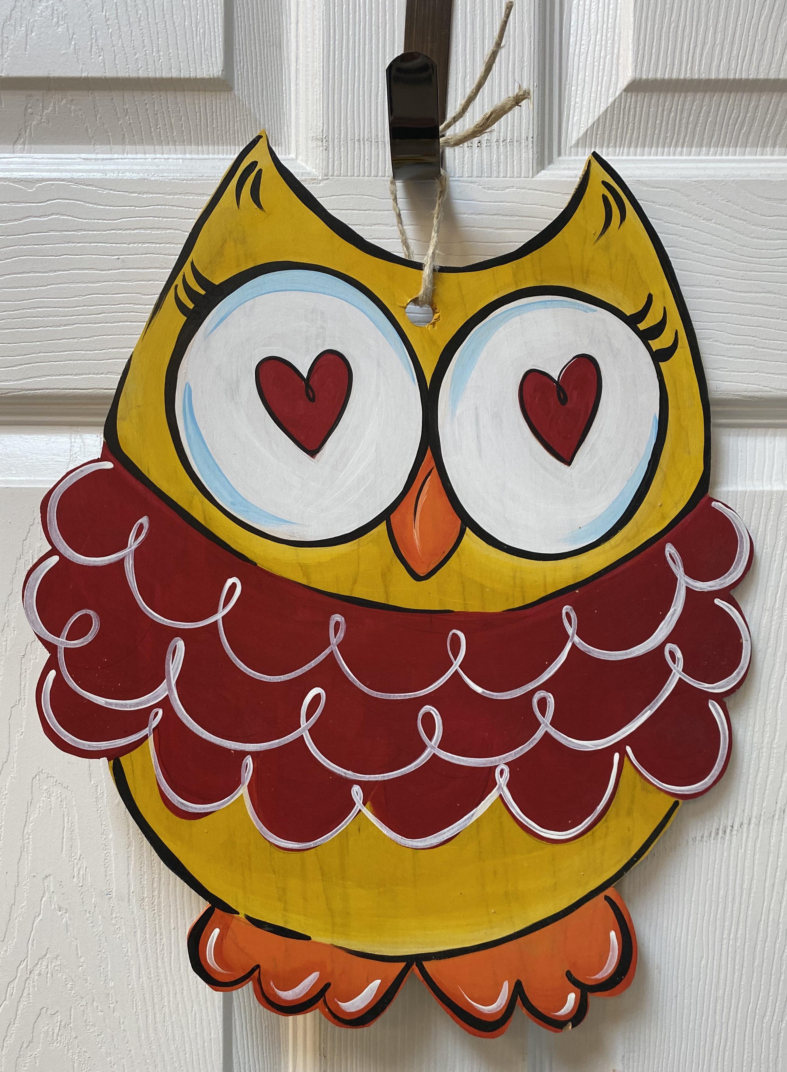 Heart Owl Board