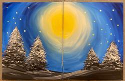 Winter Moon Combo Canvas