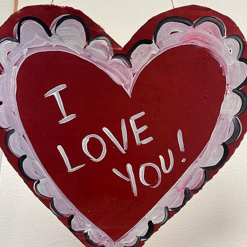 Saturday, February 13, Mini Wood Valentines