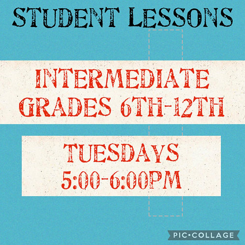 Intermediate Small Group Art Lessons Tuesdays