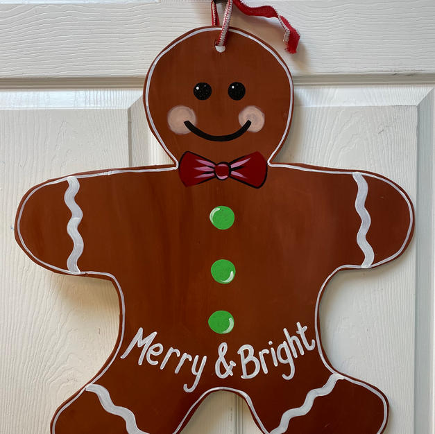#51 Gingerbread Man Wood Cutout