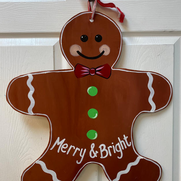#51 Gingerbread Man Wood Cutout