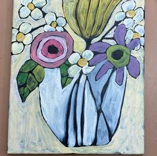 Funky Flowers in Vase