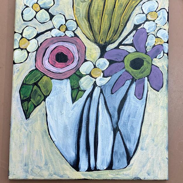Simple Flowers & Vase